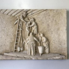 Un relieve de La Escalera en piedra