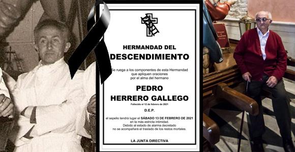Ha fallecido el hermano Pedro Herrero