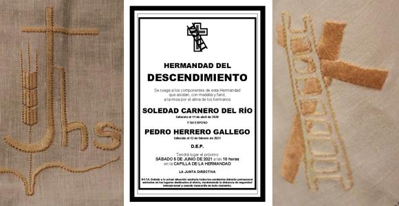 Misa por los hermanos Pedro Herrero y Soledad Carnero